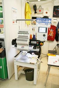 ショップモデル刺繍機を披露したタジマ工業